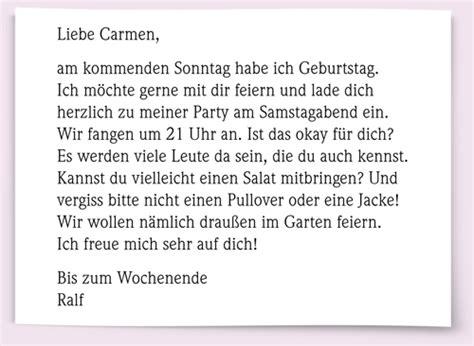 Deutscher Brief Beispiel goethe zertifikat a1 lesen