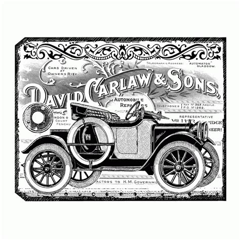 crafty individuals rubber sts crafty individuals ci 405 chunky vintage car tag