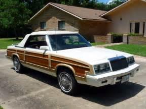 84 Chrysler Lebaron 1984 Chrysler Lebaron Town And Country Convertible No