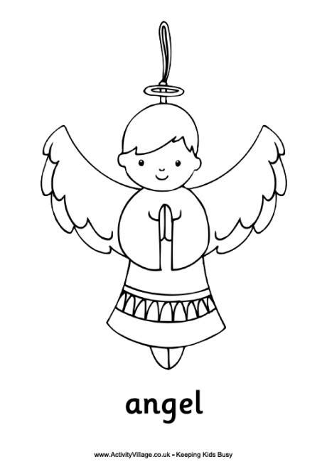 nativity angel coloring pages christmas angel ornament coloring page angels