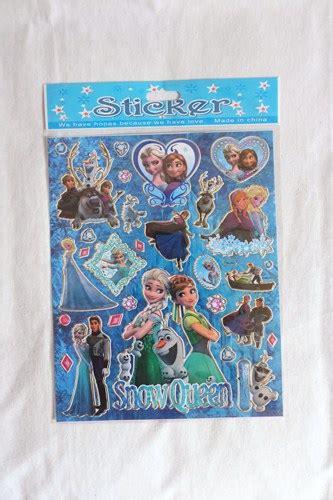 Sticker Stiker Anak Timbul Karakter Frozen jual sticker karakter disney frozen elsa stiker hadiah anak gift birthday logos