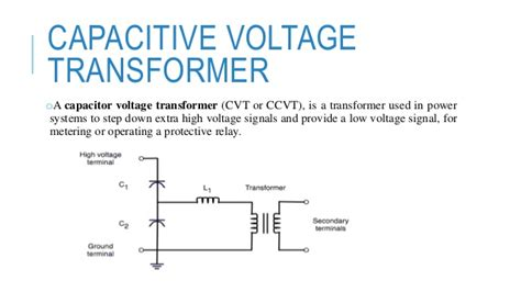 capacitor voltage transformer circuit capacitive voltage transformer 1