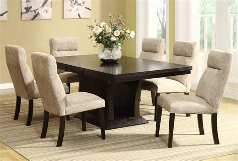 contemporary dining table sets dining sets avery 7 pc contemporary dining set table and 6 side chairs he 5448 78 5448s set 4