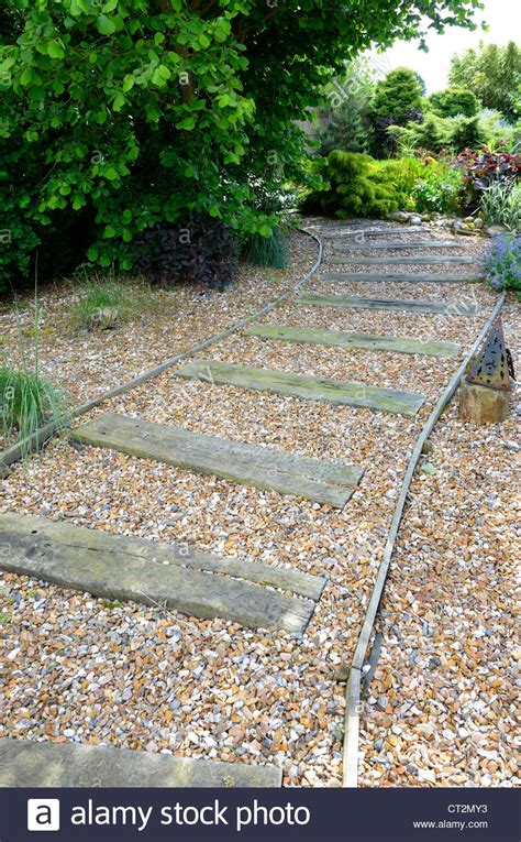 Sleepers Norfolk by Shingle Pathway Path Designed With Reclaimed Railway