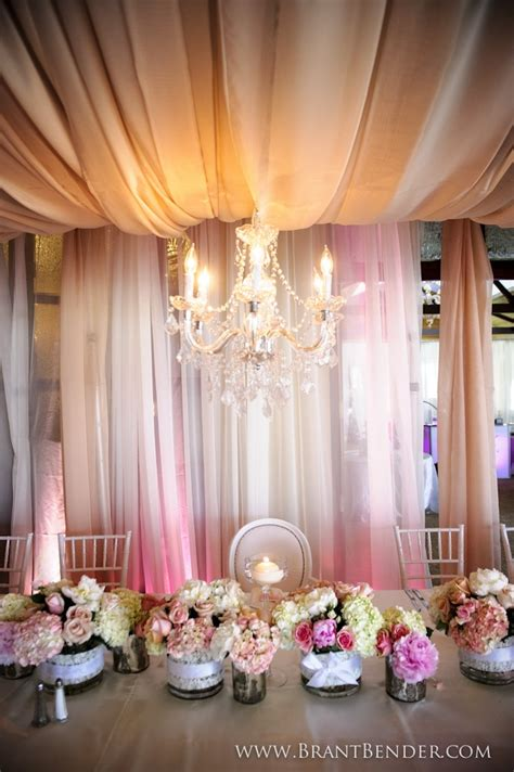 draping for parties gorgeous drape and hanging chandelier completes this