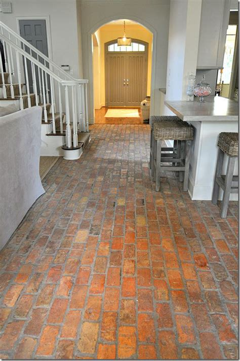 kitchen flooring brick floor design ideas modern magazin