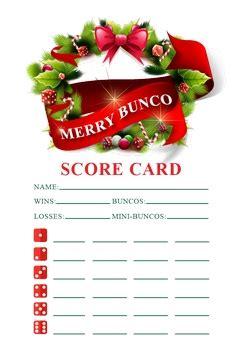 christmas bunco themes bunco score sheets