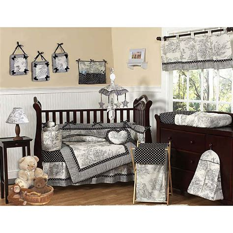 black and white baby bedding black and white french toile polka dot baby crib bedding