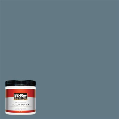 behr premium plus 8 oz 540f 5 smokey blue interior exterior paint sle 540f 5pp the home depot