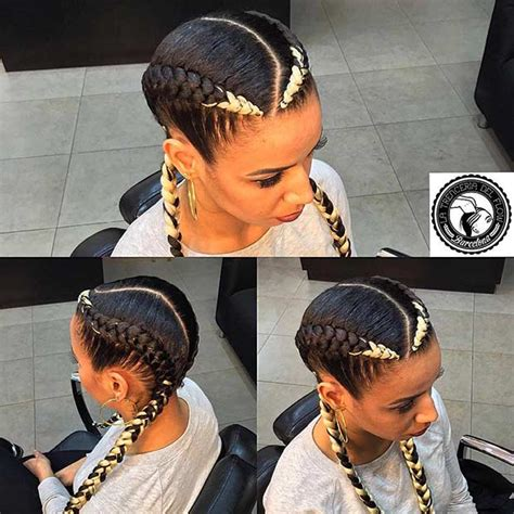 two rows corn row braid 31 cornrow styles to copy for summer page 2 of 3 stayglam