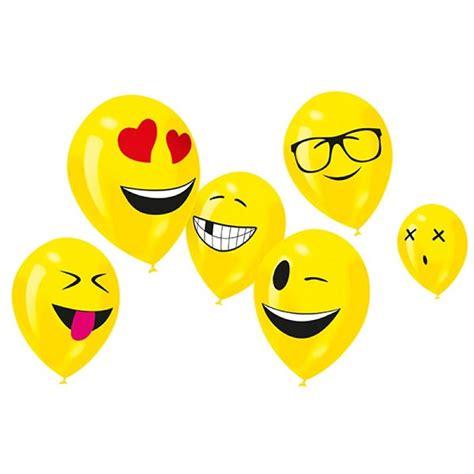 Balon Emoji Ko bakeria ballon imoji 6 st 252 ck smiley emoji luftballons