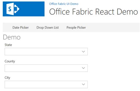 Office Ui Fabric React Office Fabric React Sharepoint Hosted Add In Dattabase