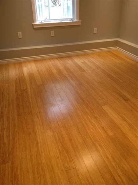 bamboo hardwood floors 11 x18 w cork underlayment insulation base boards done in a little