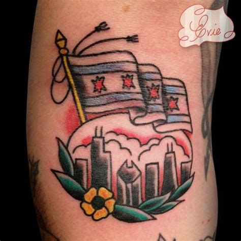 little chicago tattoo chicago flag and skyline by evie yapelli future