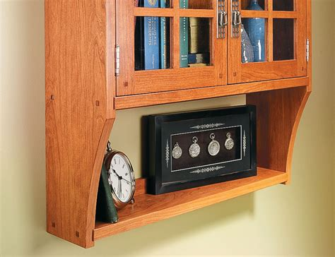 craftsman wall cabinet woodworking project woodsmith plans