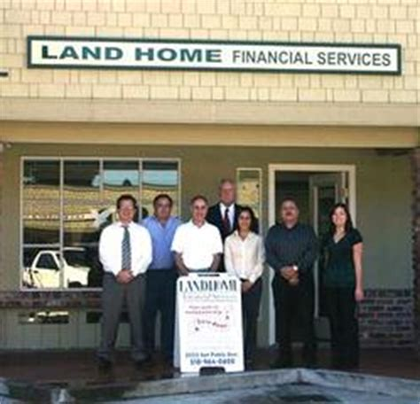 land home logo from land home financial services in pinole
