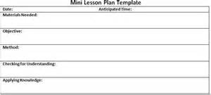 writing workshop lesson plan template search results for daily 5 lesson plan template