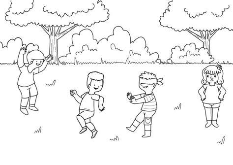 imagenes infantiles libres gallinita ciega dibujo para colorear e imprimir