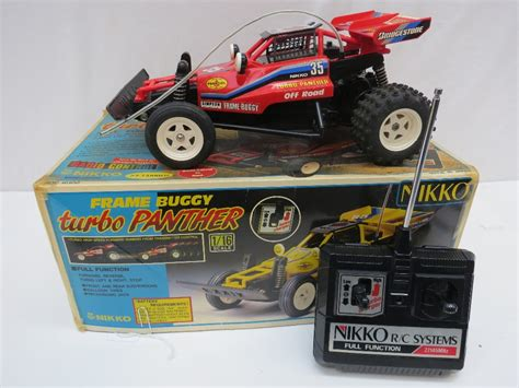 Turbo Charger Panther a nikko frame buggy turbo panther radio controlled car with original box overall car length 25