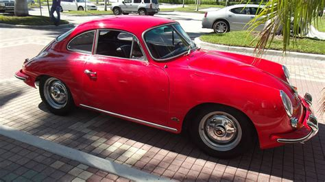 porsche coupe black 1962 porsche 356 b coupe red with black interior superb