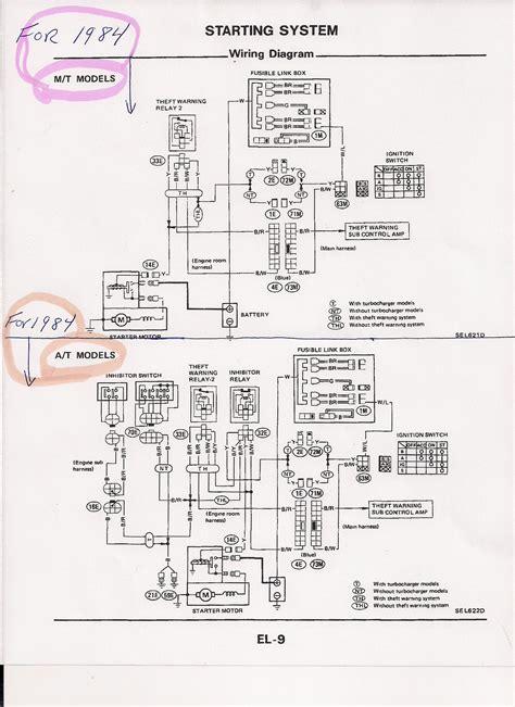 1985 nissan 300zx ignition wiring diagram nissan wiring