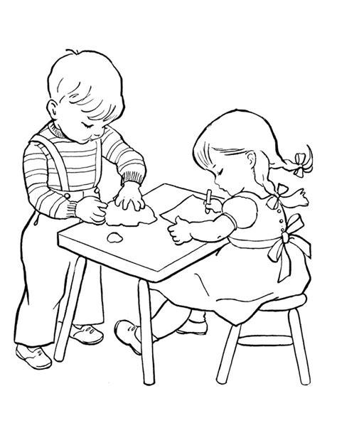 belajar membuat robot untuk anak sd gambar mewarnai anak sedang belajar