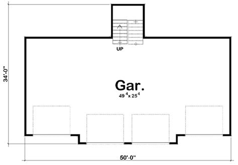 Dimensions Two Car Garage Garage Plan 44143 At Familyhomeplans Com