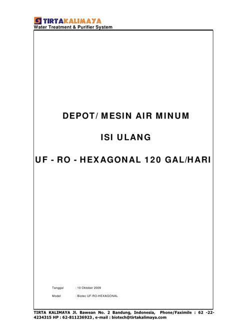 Mesin Air Isi Ulang Hexagonal air minum isi ulang uf ro hexa 120 gal hari