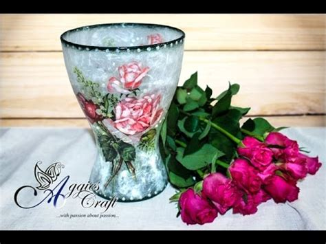 How To Decoupage A Vase - this tutorial will show you step by step how to decoupage
