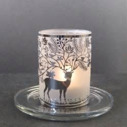 Tealight Candle Holders Stylys Glass Tealight Candle Holder Deer