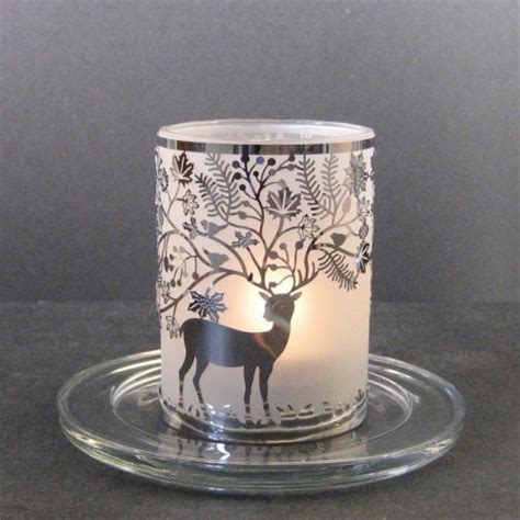 Candle Holder With Glass Stylys Glass Tealight Candle Holder Leaves