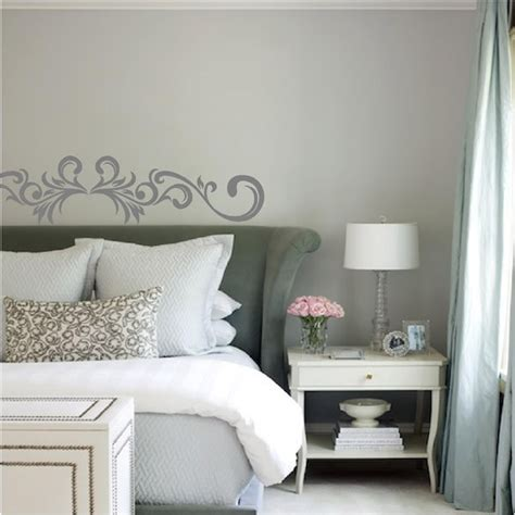 marvelous Above Bed Wall Decor #5: decorative-scroll-wall-decals.jpg