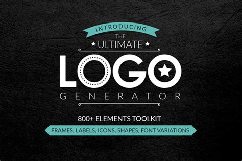 logo generator logo templates on creative market