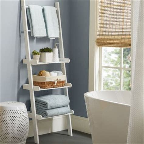 bathroom ladder shelves best 25 bathroom ladder shelf ideas on white