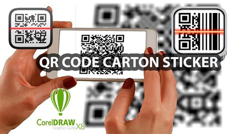 corel draw x6 qr codes coreldraw x8 carton qr code sticker youtube