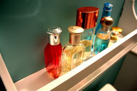 Shelf Of Perfume by Iheart Organizing July Featured Space Bathroom That S
