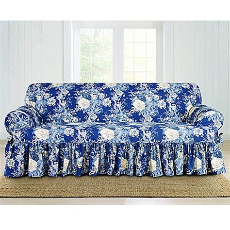 sure fit waverly ballad bouquet sofa slipcover buy sure fit 174 ballad bouquet by waverly t cushion sofa