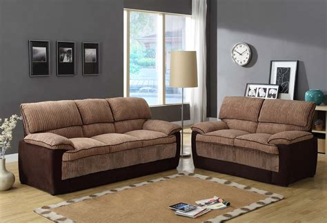 brown corduroy couch homelegance mccollum sofa set brown corduroy and