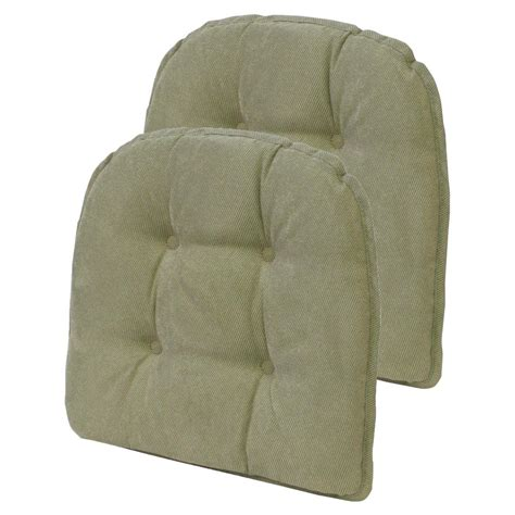 non tufted chair cushions 15 in x 16 in gripper non slip twillo thyme tufted chair
