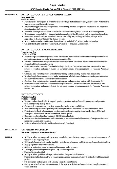 advocacy worker sle resume clinical supervisor