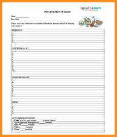 5 potluck signup sheet pdf resume setups
