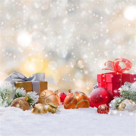 merry xmas photography backdrops bokeh polka dots printed christmas balls gift boxes winter snow