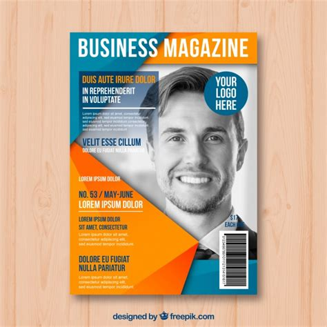 free magazine cover templates downloads business magazine cover template with model posing vector
