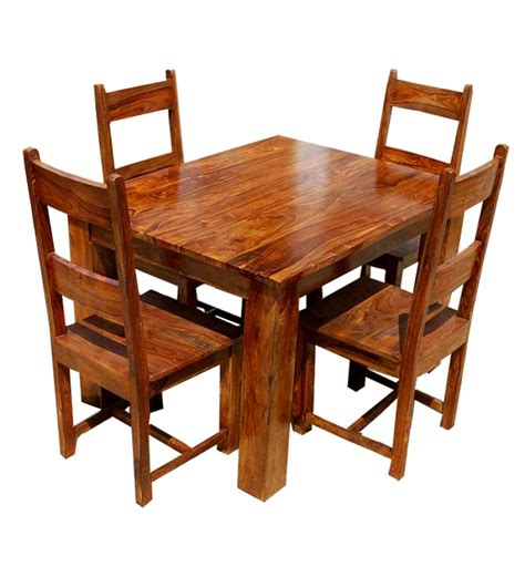 sheesham wood four seater dining set by mudramark dining sets furniture pepperfry