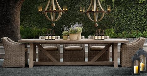 used restoration hardware outdoor furniture estilo rustico julio 2010
