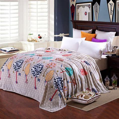 kitten soft flannel double sheet set 6 crocheted lace trim svetanya thin soft blanket tree print flannel fleece