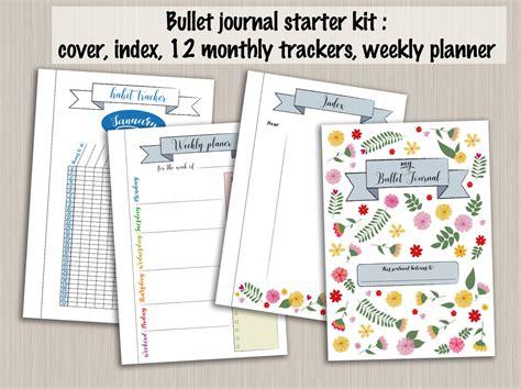 printable monthly journal covers bullet journal starter kit printable template pdf bujo