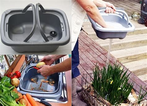 kitchen product ideas hughie removable kitchen sink made from biodegradable plastic
