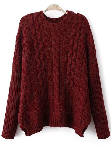 Slouchy Cropped Cable Knit Sweater Fa Fa Fa Fa Fashion