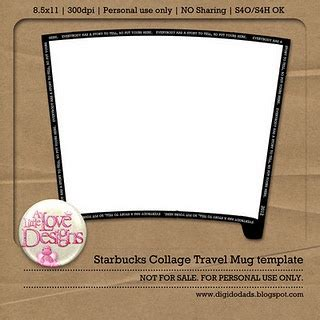 starbucks collage tumbler template 10 best images about clay templates on shape